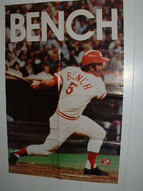 johnny bench poster 2013 urban safari hunting hauls garage sale thrift