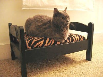 ikea cat bed cat bed made with ikea s duktig doll s bed click here to find out more http
