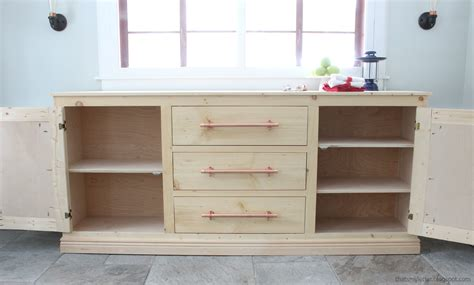 diy cabinet ana white extra long buffet cabinet diy projects
