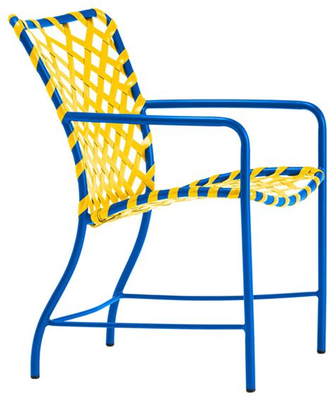 bright blue accent chairs tamiami arm chair vinyl lace yellow bright blue