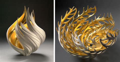 Elegant Vase Elegant Nature Inspired Vases That Glow From Within