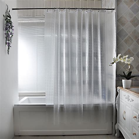 translucent shower curtain 1pc bath shower curtain translucent solid color europe
