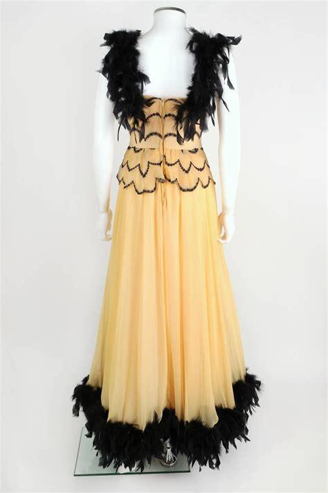 dance dresses of the 1940s ehow uk ooak vtg 1930 s 1940 s black feather trim evening