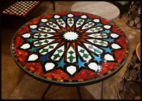 Mosaic Patio Table Top Tile And Glass Mosaic Tables Mosaic Table Mosaic Tables Mosaics And Glass