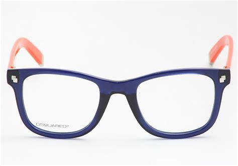 dsquared eyeglasses dq5005 blue orange 090 optical frames