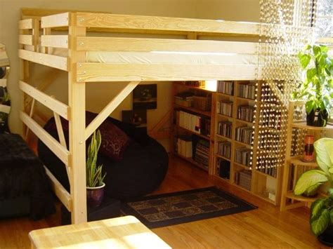 lofted queen bed loft bed plans queen woodworking projects plans
