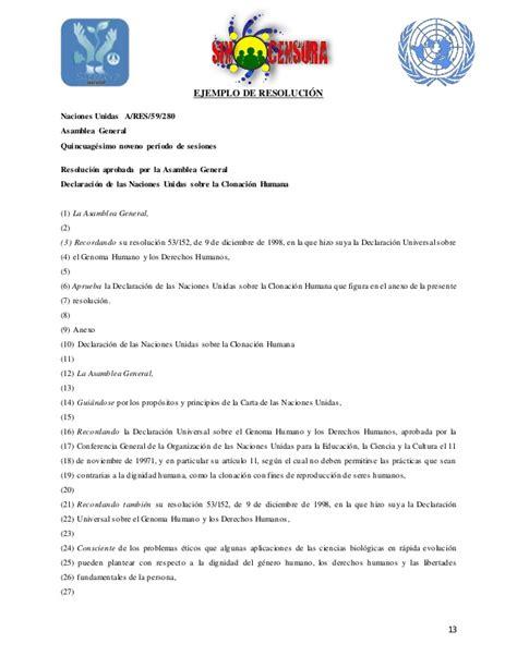 Modelo Curriculum Naciones Unidas Protocolo Foro De Debates Congreso Quot Censura Quot 2014