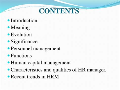 Personnel Management Mba Notes by Human Resource Management