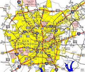 san antonio map san antonio map free printable maps