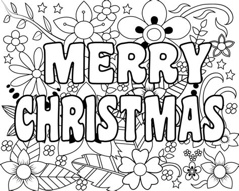 Free Coloring Page 2018 by Free Printable Merry Coloring Pages For