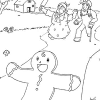 gingerbread man characters coloring pages the gingerbread man story map by lauren mollin tpt