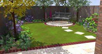 Lawn And Patio Garden Back Garden Decoration Plan The Proper Composition