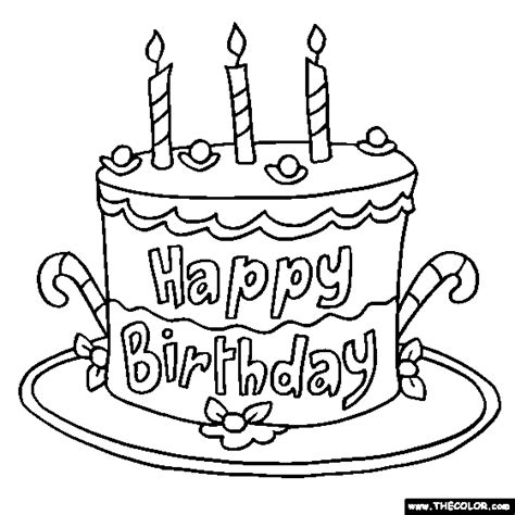happy birthday balloons coloring pages 1
