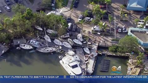 hurricane irma and boats boats in coconut grove sunk or stranded by hurricane irma