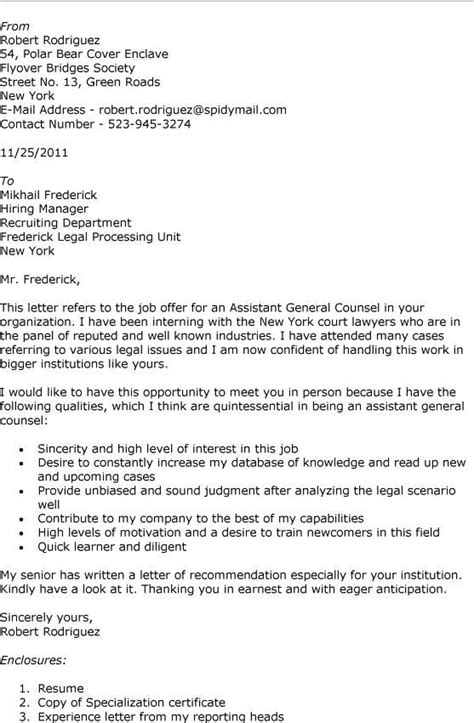 in house counsel cover letter associate vs assistant general counsel solicitors and