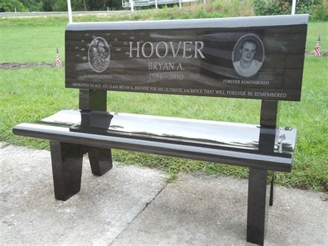 bench headstones memorial granite benches quotes
