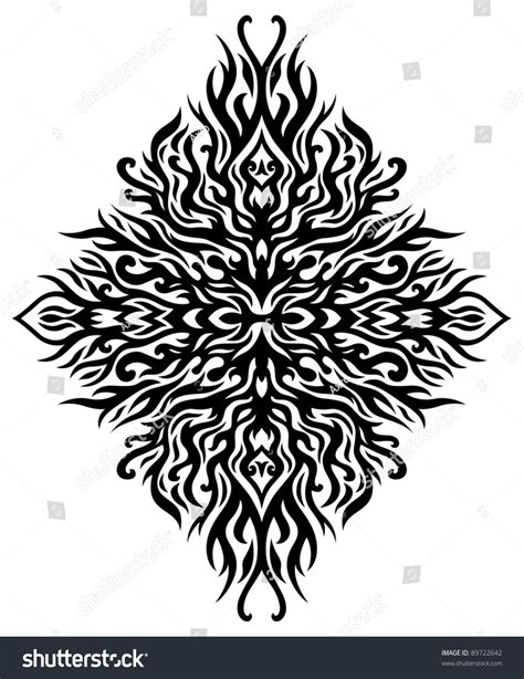 symmetrical tribal tattoos symmetrical tribal stock vector 89722642