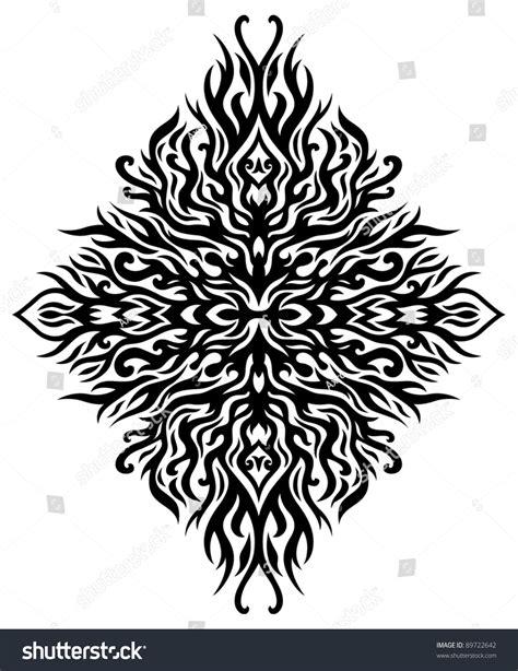 symmetrical tribal tattoos symmetrical tribal stock vector 89722642