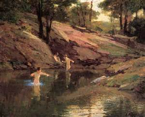 Swimming Holes Edward Henry Potthast The Swimming Painting Best