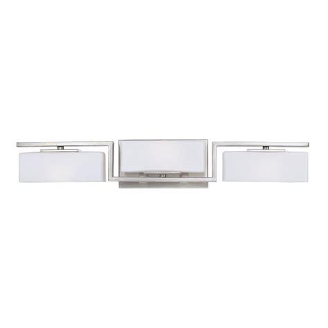 Halogen Bathroom Lighting Designers Meridian 3 Light Satin Platinum Interior Halogen Bath Vanity Light 6713 Sp