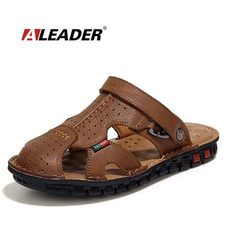 aliexpress buy mens leather sandals casual summer