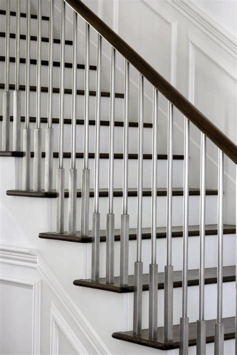 Decorating Banisters Contemporary House Design In Austin Texas Wooden Stair