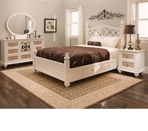 Paris Bedroom Set | dreamfurniture com paris youth panel bedroom set pearl