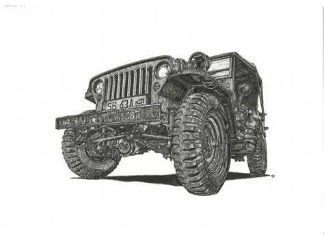 jeep artwork jeep willys by przemus on deviantart