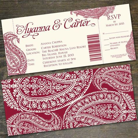 wedding invitations with detachable rsvp cards 12 best wedding invitations images on indian