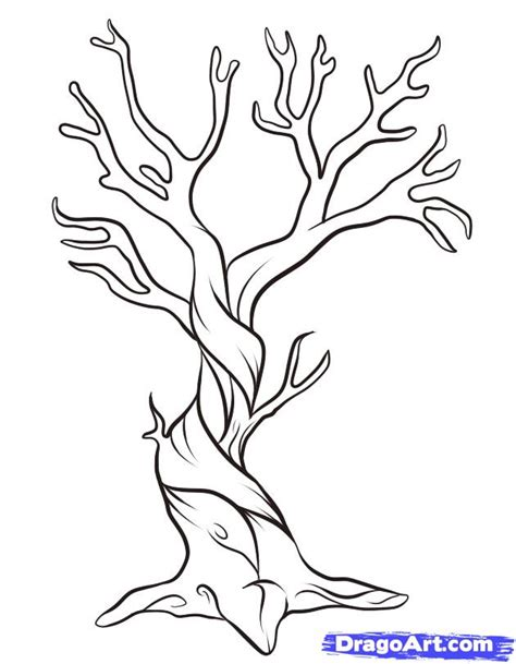 dead tree coloring page cartoon picture of a tree az coloring pages dead tree