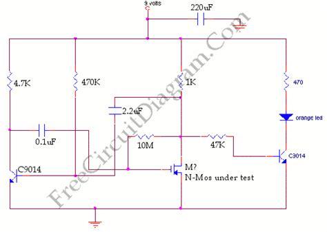 transistor mosfet testear mosfet tester c9014 circuit diagram world