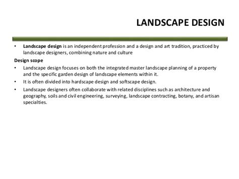 definition of layout master landscape definition and meaning