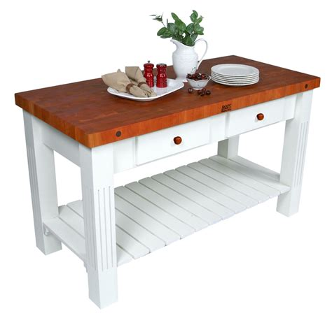 john boos grazzi cherry butcher block table