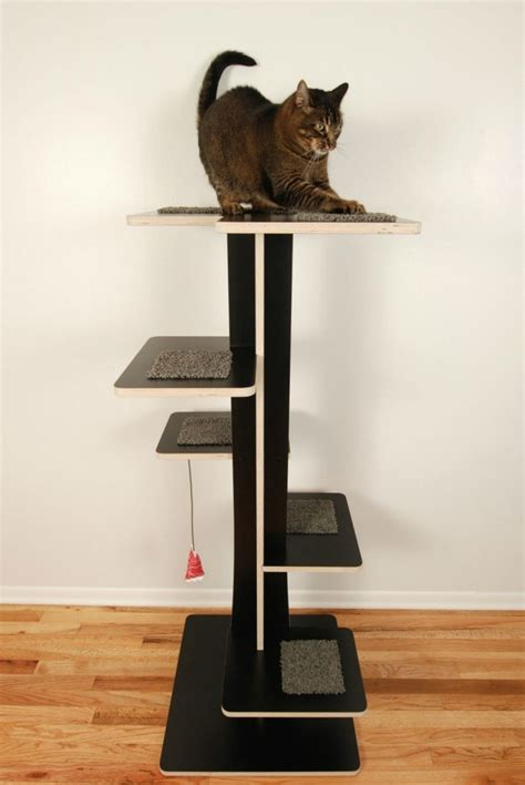 modern cat tree live small with cats by maximizing vertical space