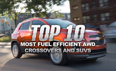 Most Gas Efficient Suv by Top 10 Most Fuel Efficient Awd Crossovers And Suvs