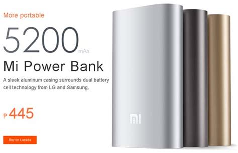 Power Bank Jaws xiaomi mi 5200 and 10400 mah power banks at p445 and p645 prices jcyberinux