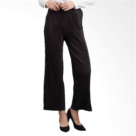 Celana Pleated Wanita Hitam jual rasya babat lidi celana kulot wanita hitam harga kualitas terjamin blibli