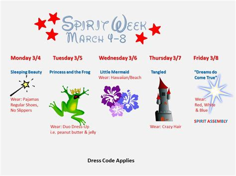 fun themed events for work spring spirit week moon valley high school