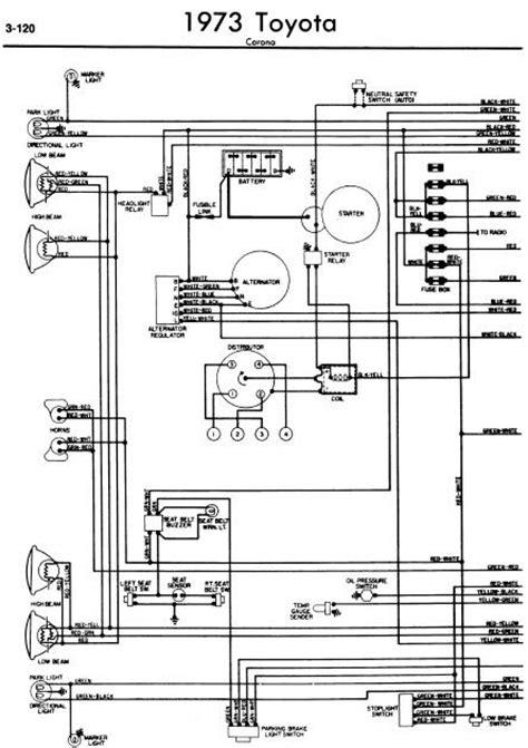 repair manuals toyota corona 1973 wiring diagrams