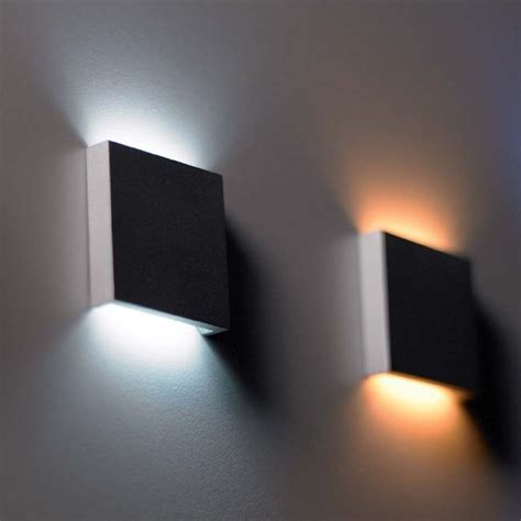 design plan q2 led semi recessed wall light wall