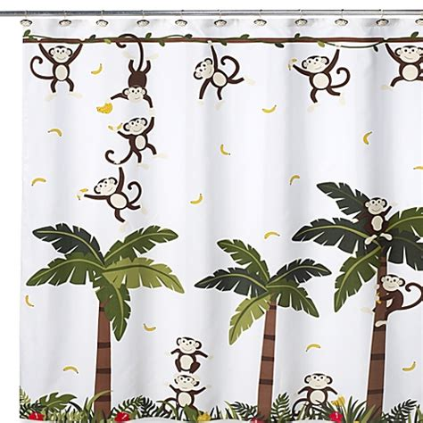 monkey curtains buy motion monkey ii 70 inch w x 71 inch l shower curtain
