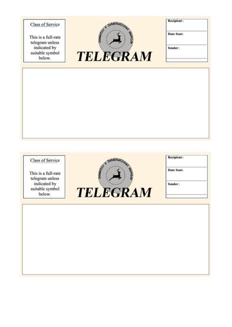 Telegram Template Free by Telegram Template 2 Per Page Printable Pdf