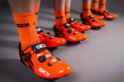 orange cycling sidi adds a touch of customization to their mid and high