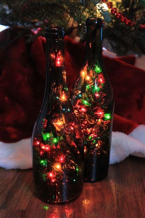christmas decorations wine bottle crafts pinterest