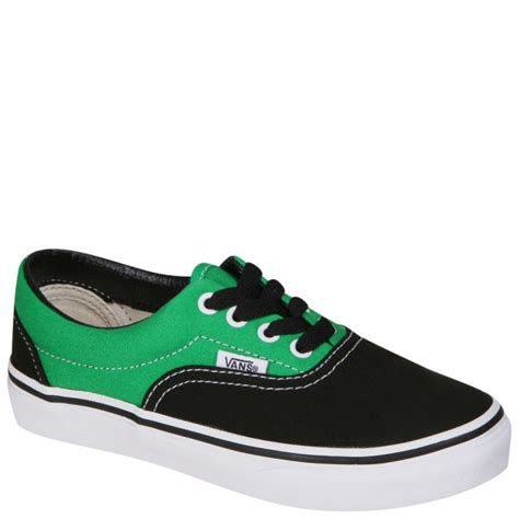 Jual Vans Era Two Tone vans era canvas two tone trainers black bright green free uk delivery