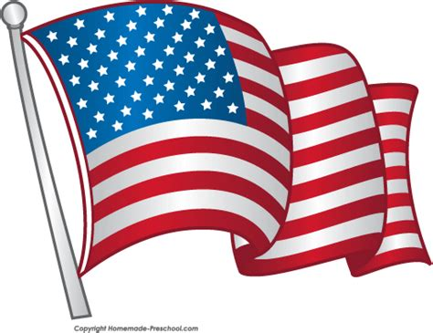 flag clipart free american flags clipart