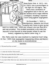 free printable black history worksheets rosa parks