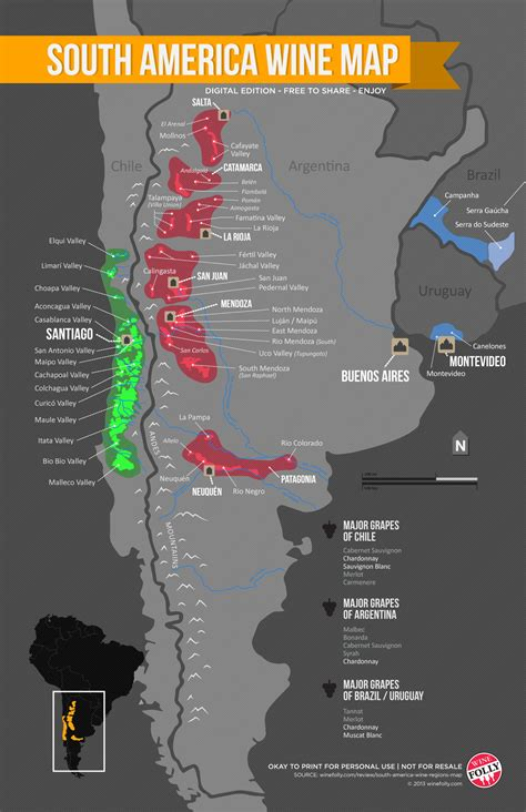 wine map south america wine regions map wine folly