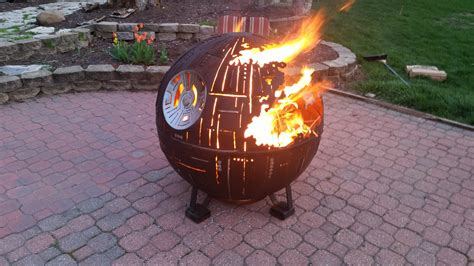 this death star fire pit is the ultimate power in the