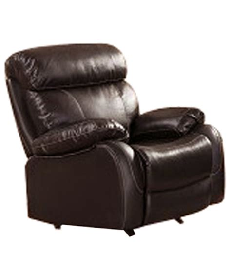 single leather recliner chairs single seater pure leather recliner rocker sofa in brown